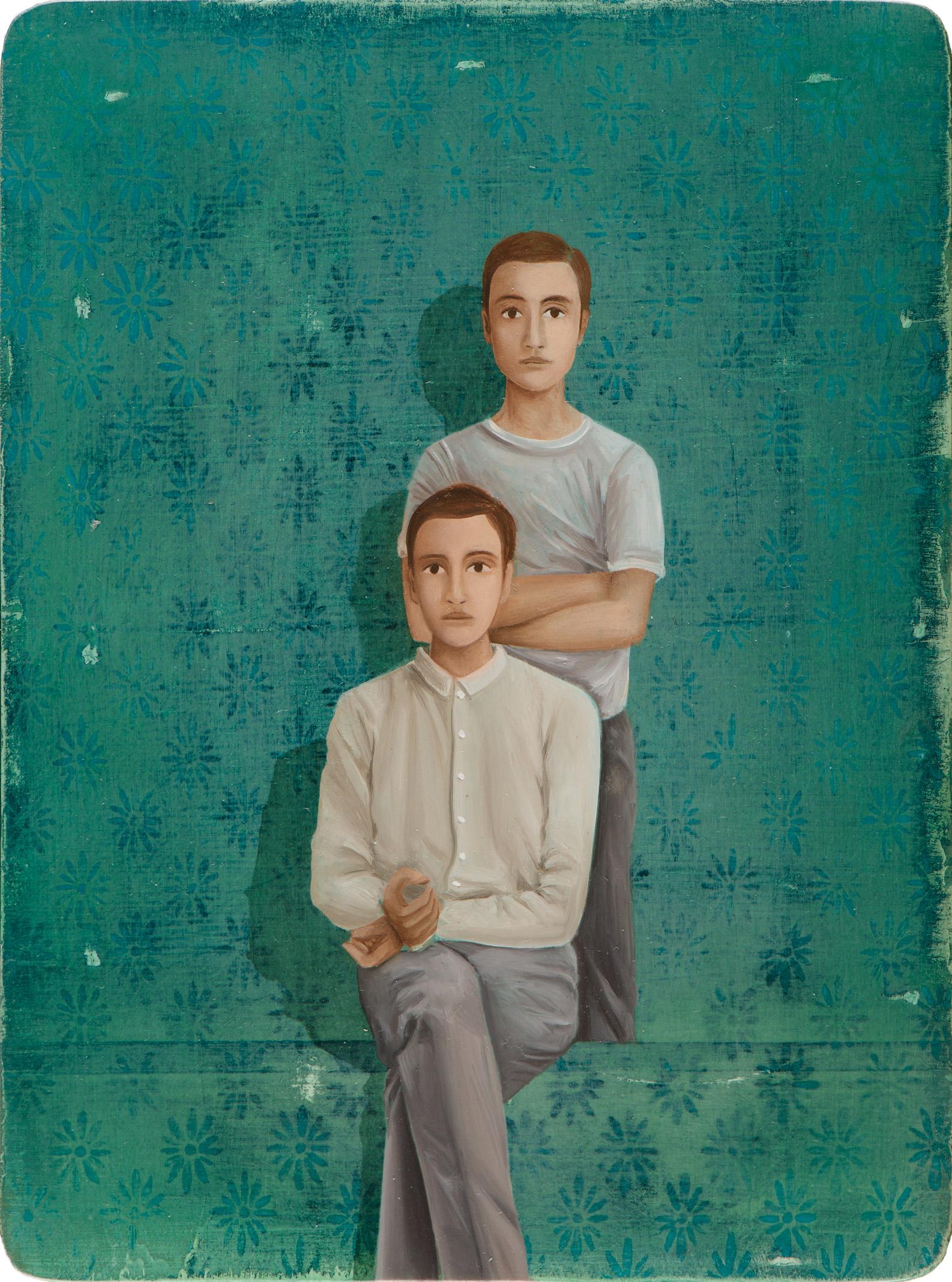 Untitled/20 x 15 cm, Oil on wood/2017